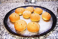 Homemade buns just out of the oven Royalty Free Stock Photography