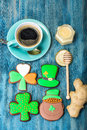 Homemade cakes on the day of St. Patrick