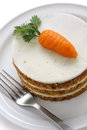 Homemade carrot cake Royalty Free Stock Photography