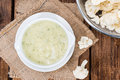 Homemade Cauliflower Soup Royalty Free Stock Photo