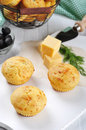 Homemade cheese muffins Stock Images