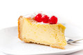Homemade cheesecake decorated with sweet cherries Royalty Free Stock Images