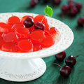 Homemade cherry jelly candy selective focus Royalty Free Stock Photography