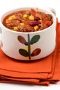 Homemade chili con carne in vertical format Royalty Free Stock Photo