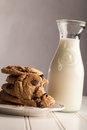 Homemade Chocolate Chip Cookies bite taken out of it Royalty Free Stock Photo