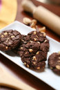 Homemade chocolate cookies Royalty Free Stock Photography