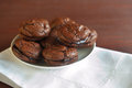 Homemade chocolate macaroons Royalty Free Stock Photography