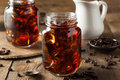 Homemade cold brew coffee to drink for breakfast Royalty Free Stock Images