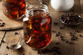 Homemade cold brew coffee to drink for breakfast Royalty Free Stock Photography