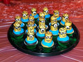 Homemade comical cupcakes edible for holiday party Stock Images