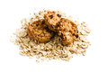 Homemade cookie with oat flakes Royalty Free Stock Photo