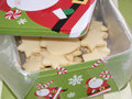 Homemade cookies in festive box Stock Images
