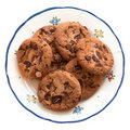 Homemade cookies on a plate Royalty Free Stock Photos