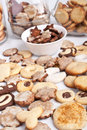 Homemade cookies with various cookie forms Royalty Free Stock Photo