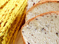 Homemade cooking made from whole wheat and grains with breads and ear of rices Royalty Free Stock Photo