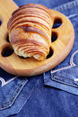 Homemade croissant delicious diet and breakfast Royalty Free Stock Images