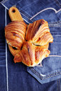 Homemade croissant delicious diet and breakfast Royalty Free Stock Photo