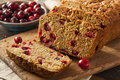 Homemade delicious cranberry bread for the holidays Royalty Free Stock Images