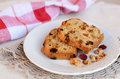 Homemade English cake on small plate Stock Photography