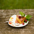 Homemade Flan dessert Royalty Free Stock Photo