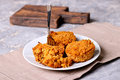 Homemade fresh baked carrot muffins with hazelnut and cinnamon Royalty Free Stock Photo