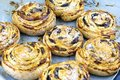 Homemade fresh cinnabon rolls. Sweet pastry bakery cinnamon bun Royalty Free Stock Photo