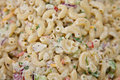Homemade fresh macaroni salad Royalty Free Stock Photos