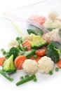 Homemade frozen vegetables on white background Stock Image