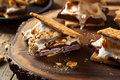 Homemade Gooey Marshmallow S'mores Royalty Free Stock Photo