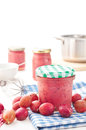Homemade gooseberry jam jar of fresh Royalty Free Stock Images