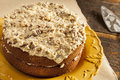 Homemade gourmet german chocolate cake with almonds and coconut Stock Photography