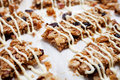 Homemade granola bars with fresh muesli and raisins Stock Image
