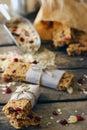 Homemade Granola Protein Bars Royalty Free Stock Photo