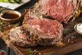 Homemade Grass Fed Prime Rib Roast Royalty Free Stock Photo