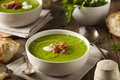 Homemade Green Spring Pea Soup Royalty Free Stock Photo