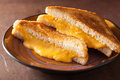 Homemade grilled cheese sandwich for breakfast Royalty Free Stock Photo