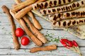Homemade  grilled Kebapche Royalty Free Stock Photo