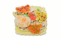 Homemade halloween cookies colorful shaped with clipping path Royalty Free Stock Image