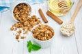 Homemade honey cinnamon granola Royalty Free Stock Photo
