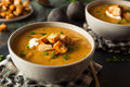 Homemade Hot Butternut Squash Soup Royalty Free Stock Photo