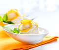 Homemade ice cream lemon icecream dessert Royalty Free Stock Photography