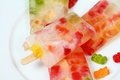 Homemade ice lolly from gummy bears Royalty Free Stock Photo