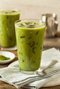 Homemade Iced Matcha Latte Tea Royalty Free Stock Photo