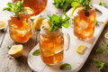Homemade Iced Tea and Lemonade Royalty Free Stock Photo