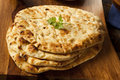Homemade indian naan flatbread made with whole wheat Stock Image