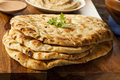 Homemade indian naan flatbread made with whole wheat Royalty Free Stock Photos