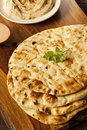 Homemade indian naan flatbread made with whole wheat Royalty Free Stock Photo