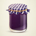Homemade jam illustration of a glass with Royalty Free Stock Photo