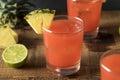 Homemade Jamaican Rum Punch Royalty Free Stock Photo