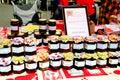stock image of  Homemade Jams, Carnival, Derbyshire.
